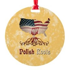 Polish American Roots Holiday Ornament