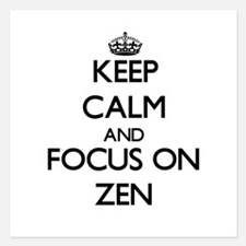 Keep Calm by focusing on Zen Invitations