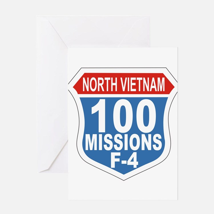 100 Missions F-4 Greeting Cards