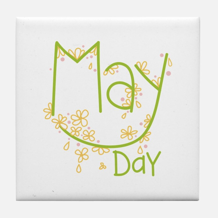 May Day Tile Coaster