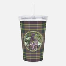 Forest Retreat Plaid Acrylic Double-wall Tumbler