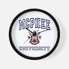 MCPHEE University Wall Clock