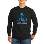 Seattle Space Needle Long Sleeve Dark T-Shirt