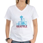 Seattle Space Needle Women's V-Neck T-Shirt