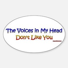 Voices... Oval Decal