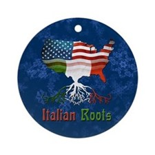 Italian American Roots Christmas Ornament (Round)