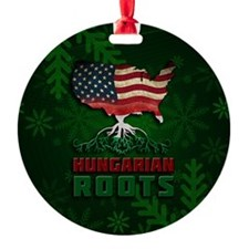 Hungarian American Roots Christmas Ornament