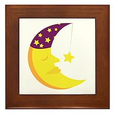 Sleepy Moon Framed Tile
