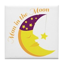 Man in the moon Tile Coaster