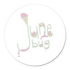 June Bug Round Car Magnet