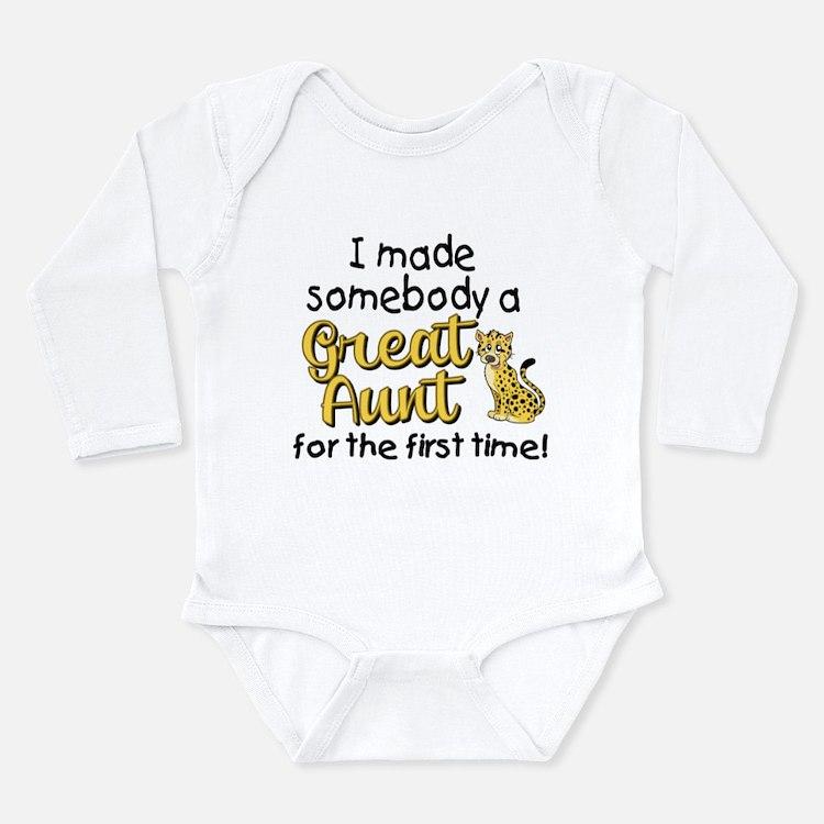 Great Aunt Long Sleeve Infant Bodysuit