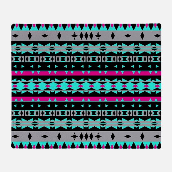 Mix #582, Tribal Pattern Throw Blanket