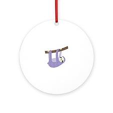 Tree Sloth Ornament (Round)