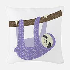 Tree Sloth Woven Throw Pillow