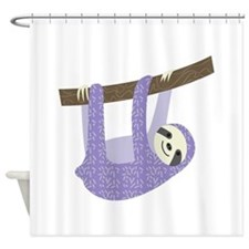 Tree Sloth Shower Curtain