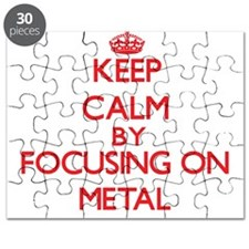 Keep Calm by focusing on Metal Puzzle