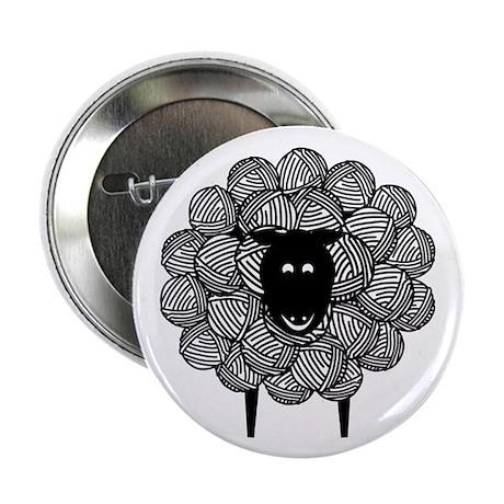 "Black Faced Yarn Sheep 2.25"" Button (10 pack)"