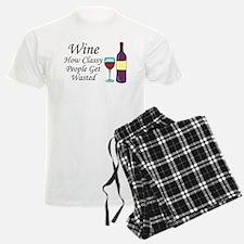 Wine Classy People Wasted Pajamas