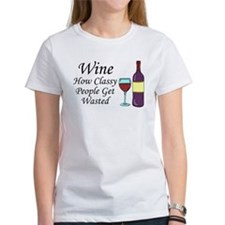 Wine Classy People Wasted T-Shirt