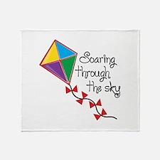 Soaring Through Throw Blanket