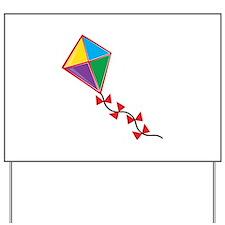 Colorful Kite Yard Sign