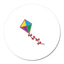 Colorful Kite Round Car Magnet