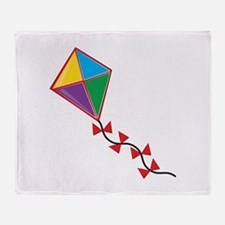 Colorful Kite Throw Blanket