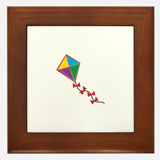 Colorful Kite Framed Tile