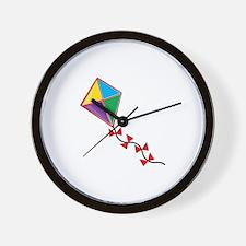 Colorful Kite Wall Clock