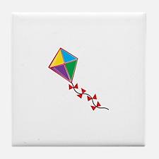 Colorful Kite Tile Coaster
