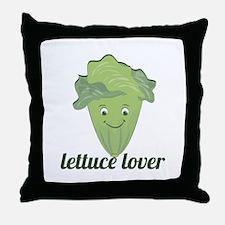 Lettuce Lover Throw Pillow