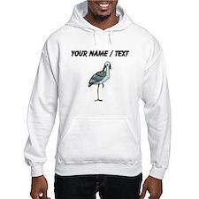 Custom Crane On One Foot Hoodie