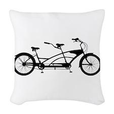 Tandem Bike Woven Throw Pillow