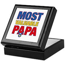 Most Valuable Papa Star Keepsake Box