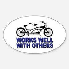 Works Wel with others Decal