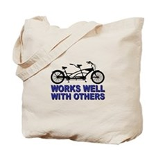 Works Wel with others Tote Bag