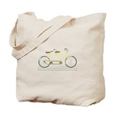Tandem Bicycle Tote Bag