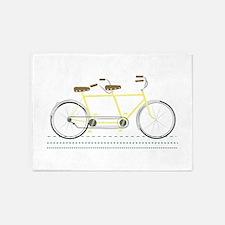 Tandem Bicycle 5'x7'Area Rug
