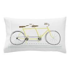 Tandem Bicycle Pillow Case