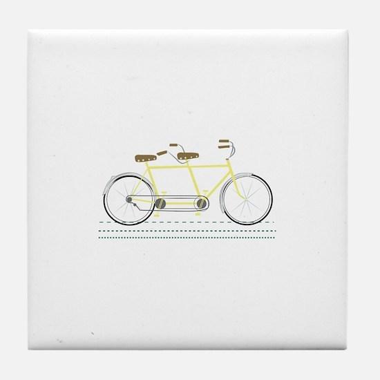 Tandem Bicycle Tile Coaster