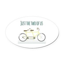 Just the two of us Oval Car Magnet