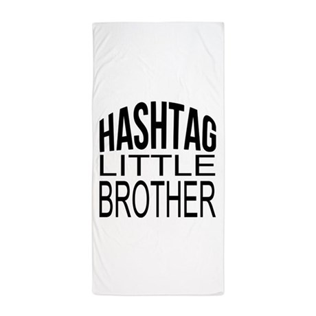 Hashtag little brother beach towel by bimbyscollections for Bathroom decor hashtags
