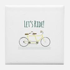 Lets Ride Tile Coaster