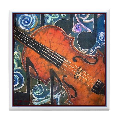 Fiddle Close Up<br>Tile Coaster
