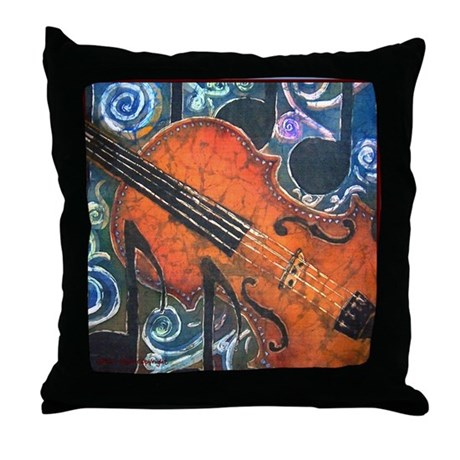 Fiddle Close up<br>Throw Pillow