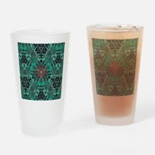 rustic bohemian damask pattern  Drinking Glass