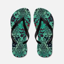 rustic bohemian damask pattern  Flip Flops