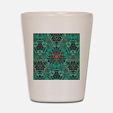 rustic bohemian damask pattern  Shot Glass
