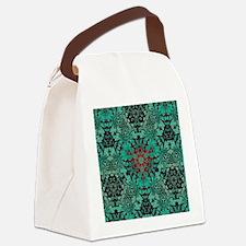 rustic bohemian damask pattern  Canvas Lunch Bag