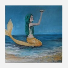 Be a MERMAID Tile Coaster